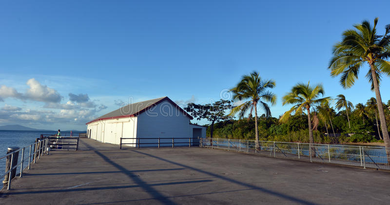 Sugar Wharf no porto Douglas Queensland Australia imagem de stock royalty free