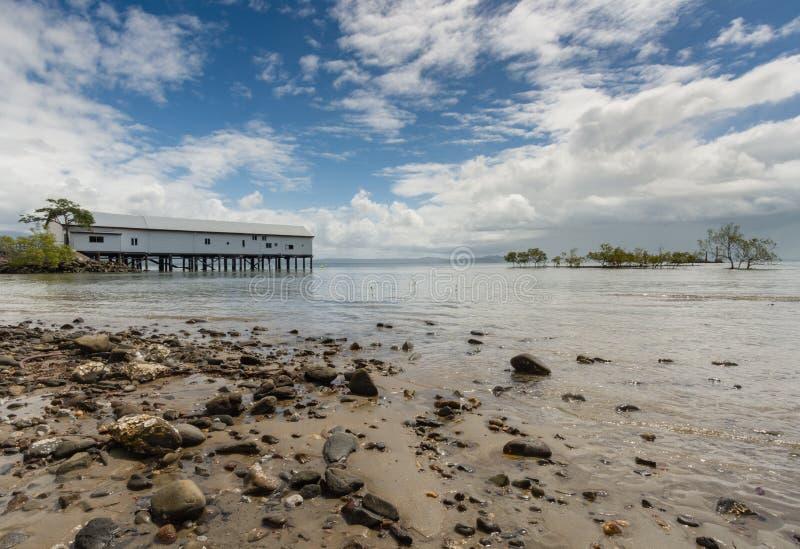 Sugar Wharf - Port Douglas - Austrália imagem de stock