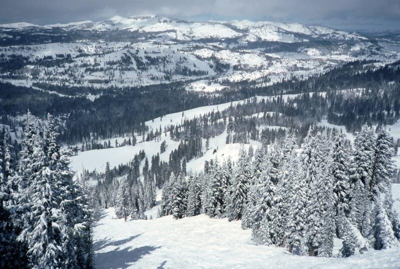 Sugarbowl Skiort szenisch stockfotografie