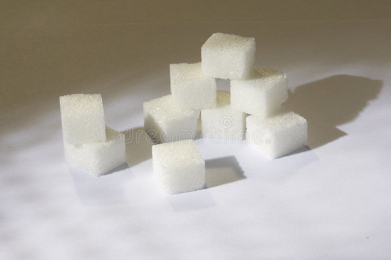 Sugarcube stockfoto