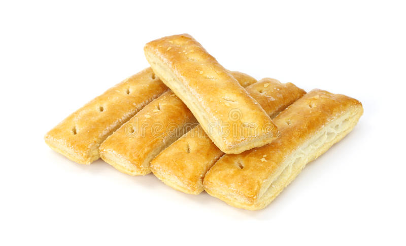 Sugared pastry puff cookies stock images
