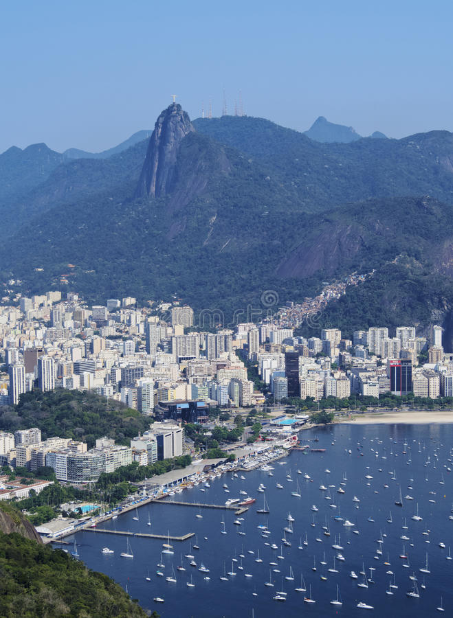 从Sugarloaf的里约热内卢 图库摄影