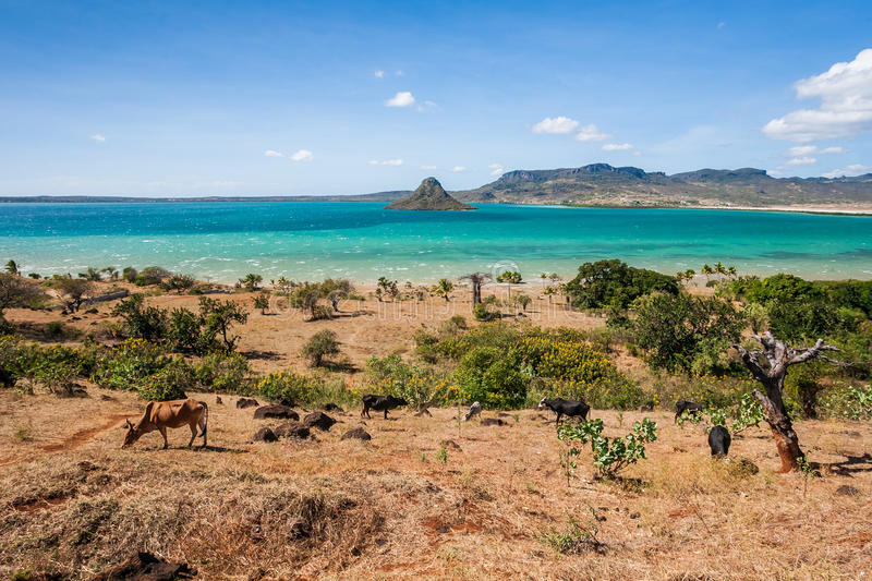 The sugarloaf of Antsiranana bay. (Diego Suarez), northern Madagascar royalty free stock image