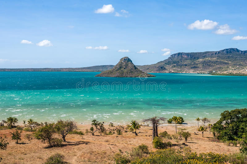 The sugarloaf of Antsiranana bay. (Diego Suarez), northern Madagascar stock photo