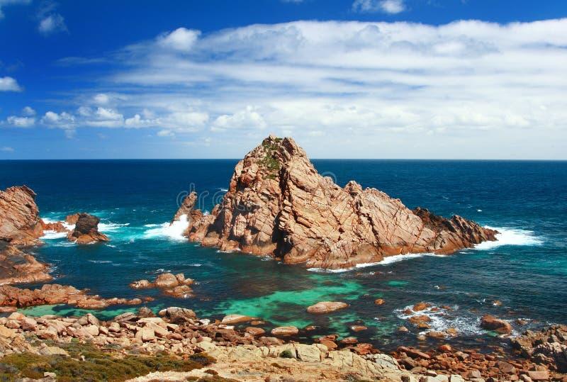 sugarloaf de roche de l'australie images libres de droits