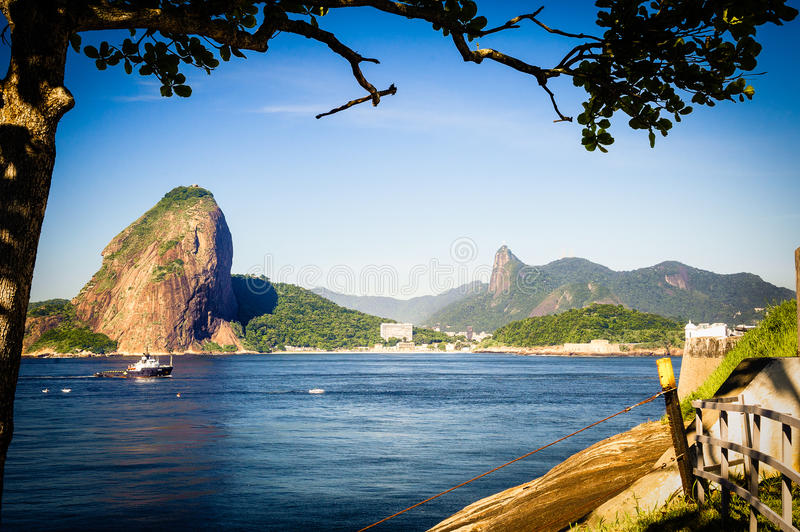 Download Sugarloaf Mountain stock image. Image of boat, brazil - 33095367