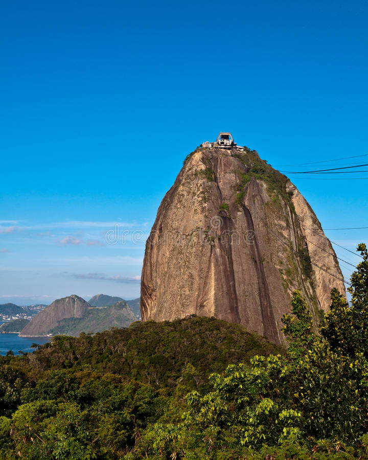 Download Sugarloaf Mountain stock image. Image of blue, space - 36044657