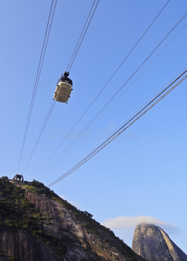 Sugarloaf Mountain in Rio stock photography