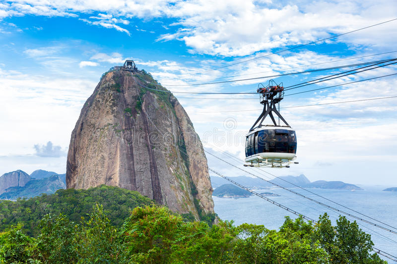 The Sugarloaf Mountain in Rio de Janeiro, Brazil.  royalty free stock photos