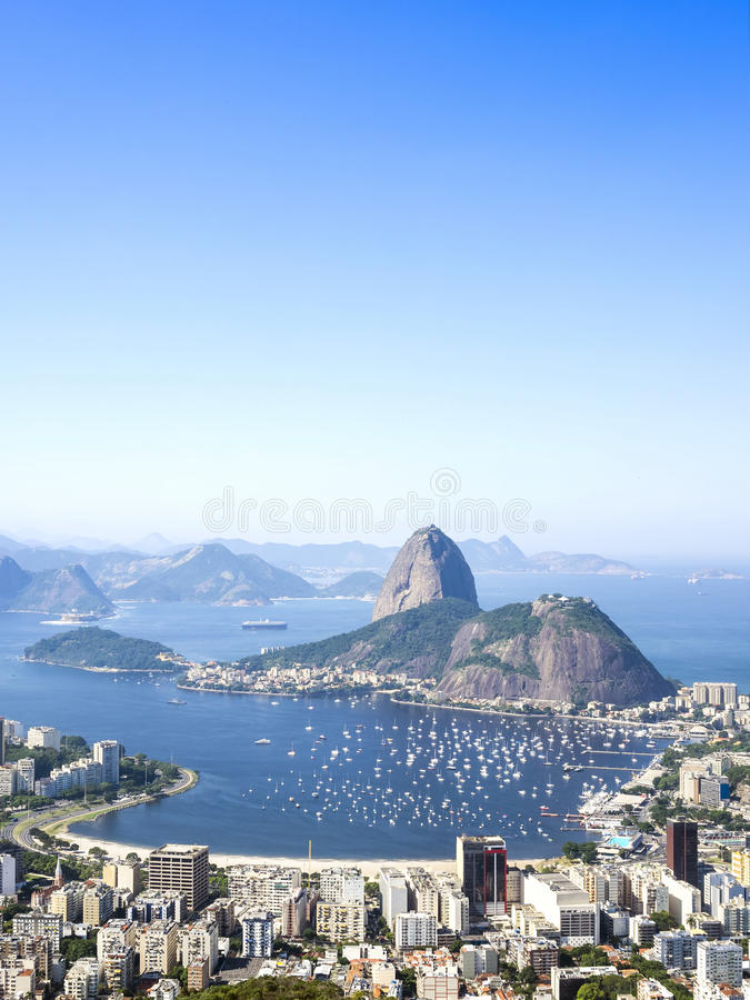 Sugarloaf Mountain in Rio de Janeiro, Brazil.  royalty free stock photo