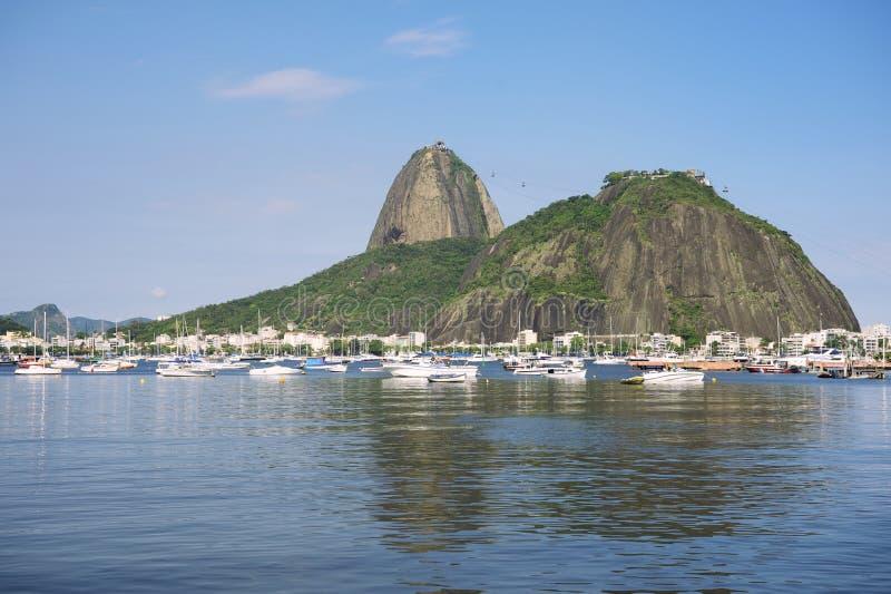Sugarloaf Pao de Acucar Mountain里约热内卢 库存照片