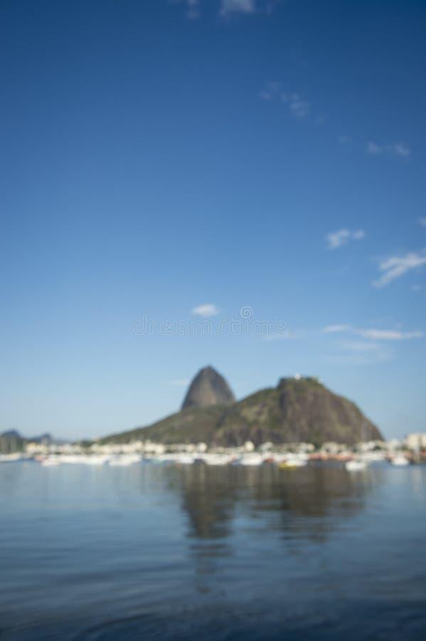 Sugarloaf Pao de Acucar Mountain Rio de Janeiro Defocus stock photo