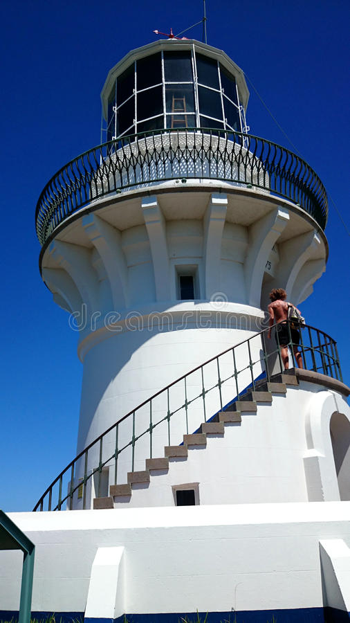 Sugarloaf Point Light @ Seal Rocks, Australia. Sugarloaf Point Light, also known as Seal Rocks Lighthouse, is an active lighthouse located on Sugarloaf Point, a royalty free stock photo