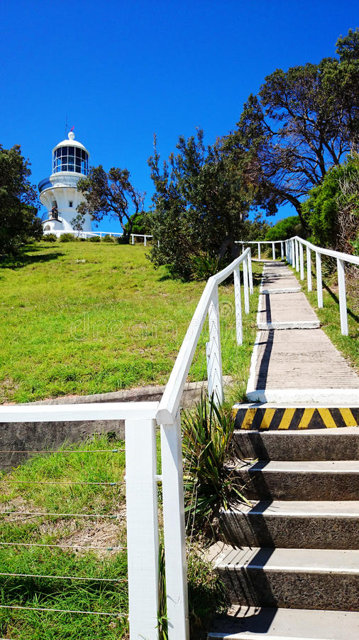 Sugarloaf Point Light @ Seal Rocks, Australia. Sugarloaf Point Light, also known as Seal Rocks Lighthouse, is an active lighthouse located on Sugarloaf Point, a royalty free stock photos