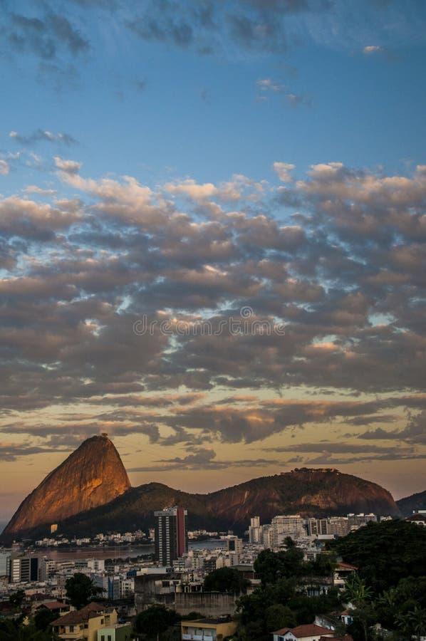 Sugarloaf Rio De Janeiro i góra fotografia stock