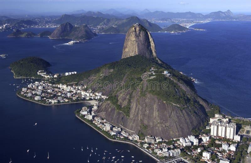 Sugarloafberg - Rio de Janeiro - Brazilië royalty-vrije stock fotografie