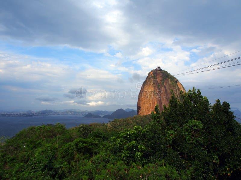 Sugarloafberg in Rio de Janeiro, Brazilië royalty-vrije stock foto's