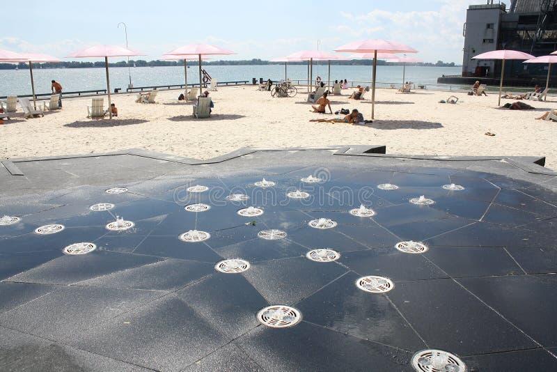Suger海滩多伦多,加拿大 免版税图库摄影