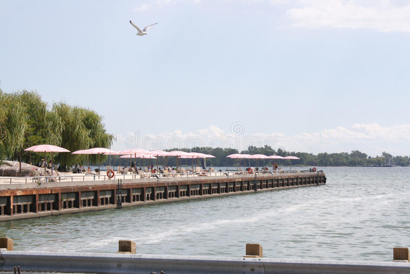 Suger海滩码头多伦多,加拿大 库存图片
