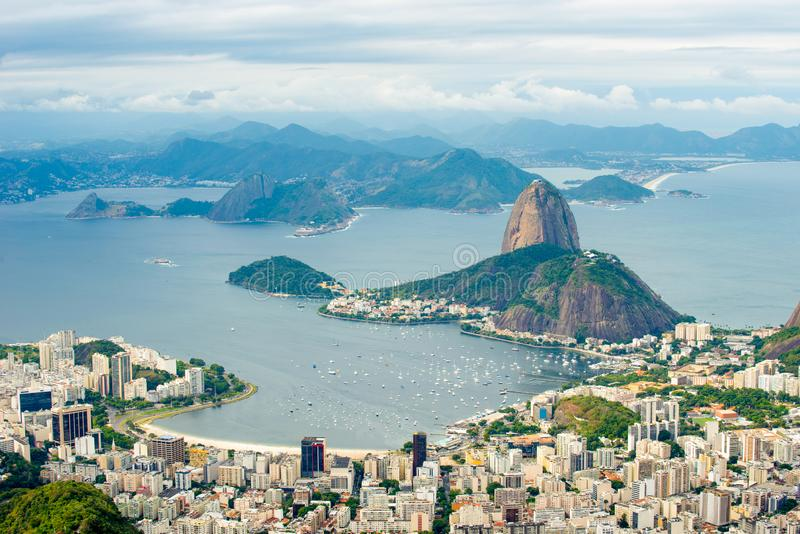 Suggar Loaf from Corcovado - Rio de Janeiro, Brazil. stock images
