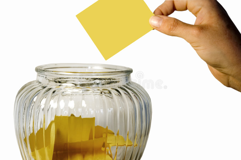 Suggestion jar stock images