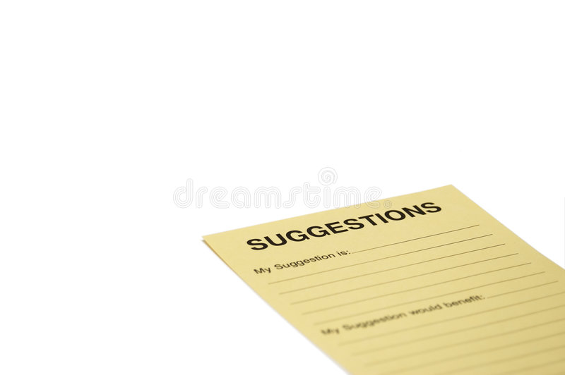 Download Suggestion Note Royalty Free Stock Photos - Image: 2319568