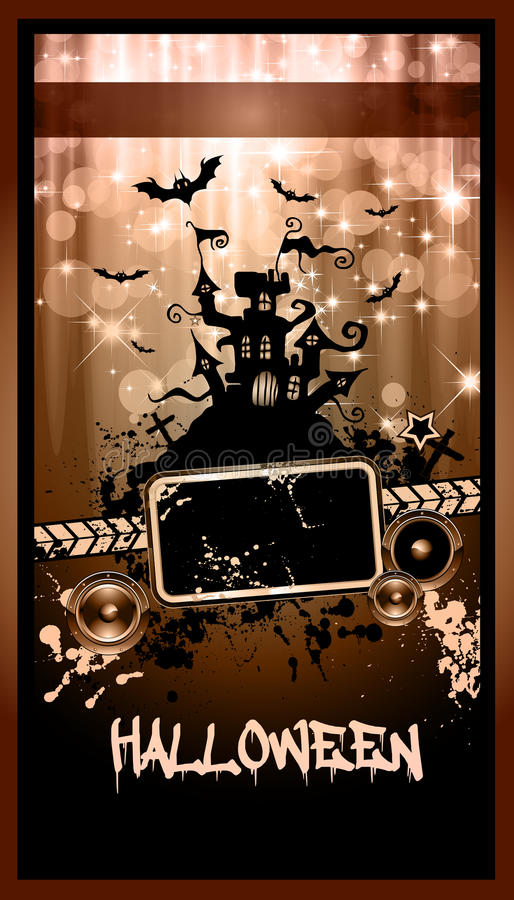 Download Suggestive Hallowen Party Flyer Stock Vector - Image: 21634643