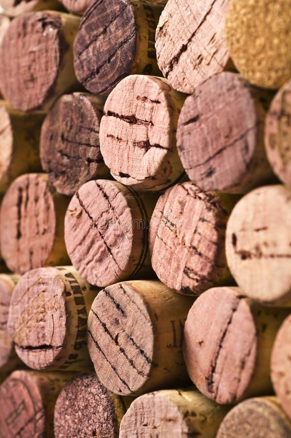 Sugheri del vino fotografie stock