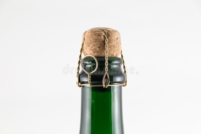Sughero in bottiglia di Chanpagne immagini stock libere da diritti