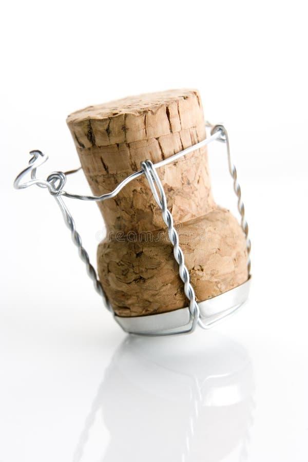 Sughero del vino fotografia stock libera da diritti