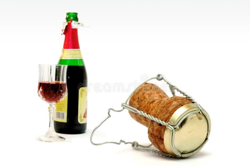 Sughero della Champagne fotografia stock