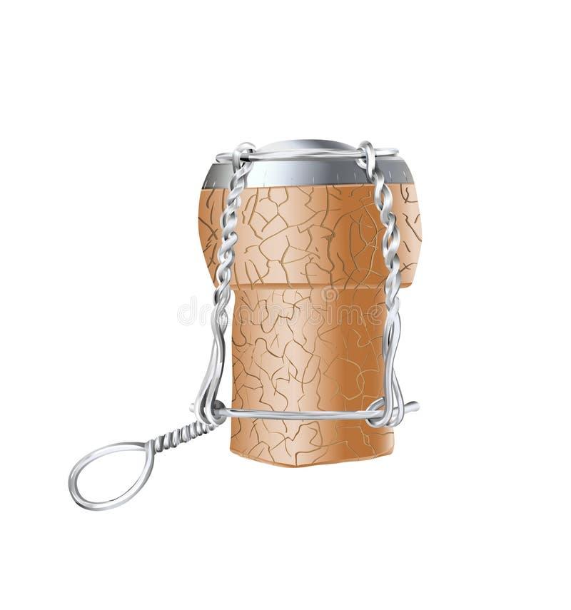 Sughero di Champagne illustrazione di stock