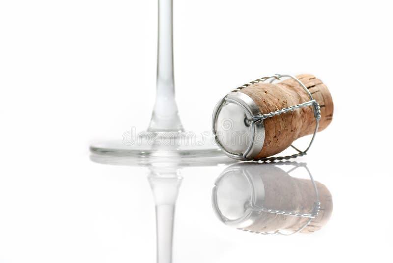 Sughero di Champagne fotografie stock