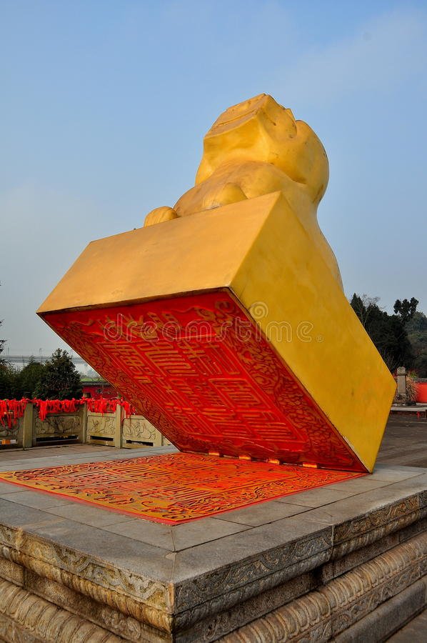 Sui Ningl, China: Seal of the World Sculpture stock image