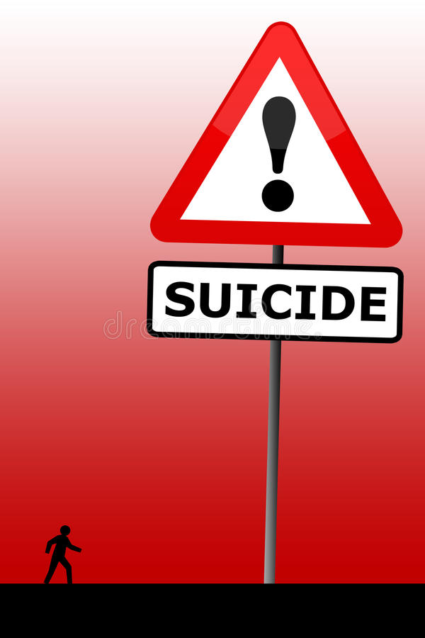Suicídio ilustração do vetor