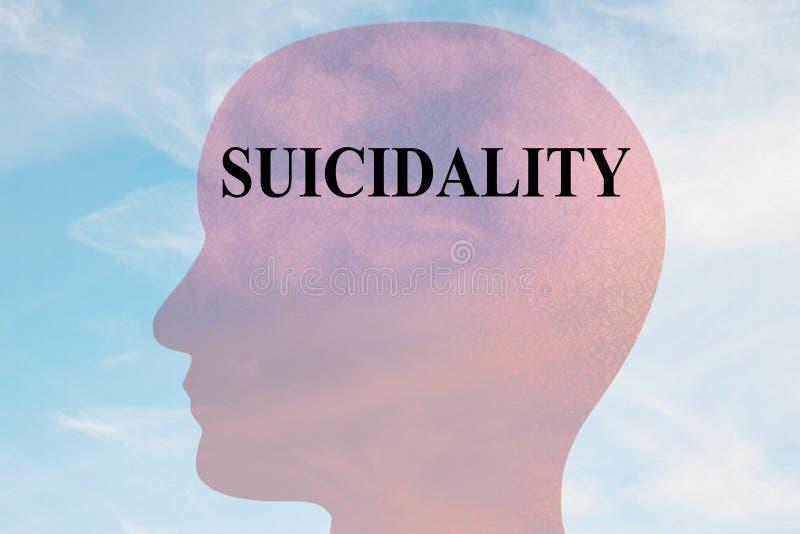 SUICIDALITY - umysłowy pojęcie royalty ilustracja