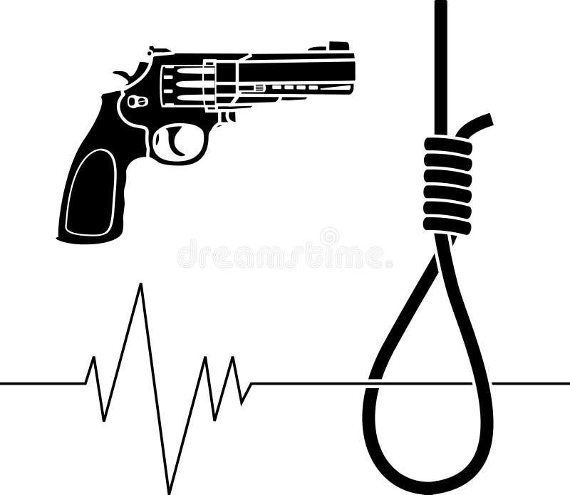 Suicide. Stencil. vector illustration for design royalty free illustration