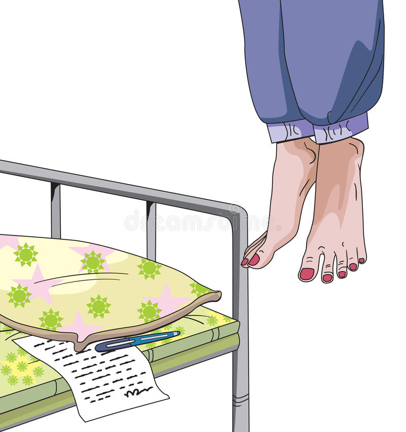 Suicide de engagement femelle, illustration illustration stock