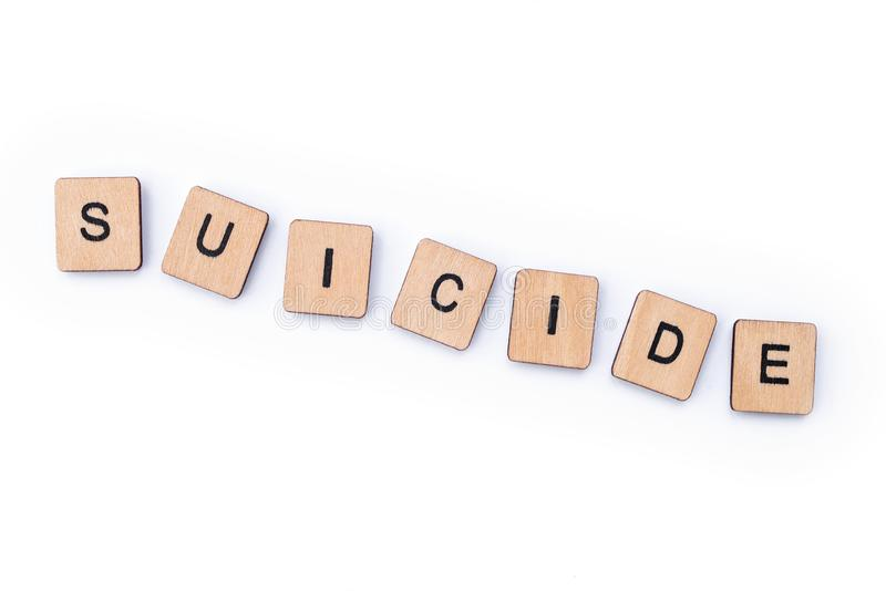 Suicide images stock