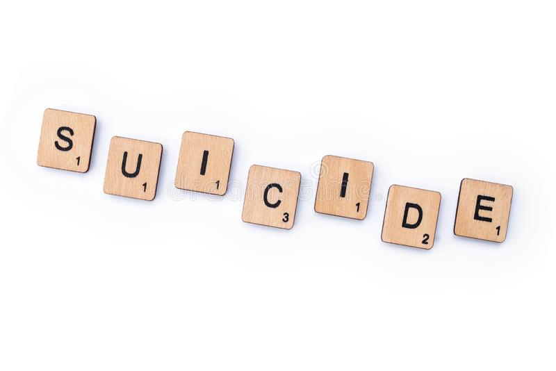 Suicide image stock