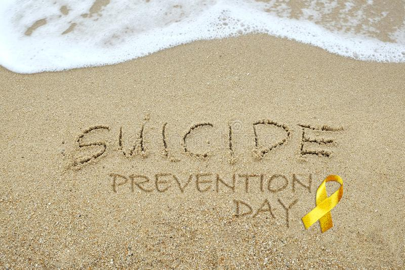 Suicide Prevention Day concept royalty free stock image