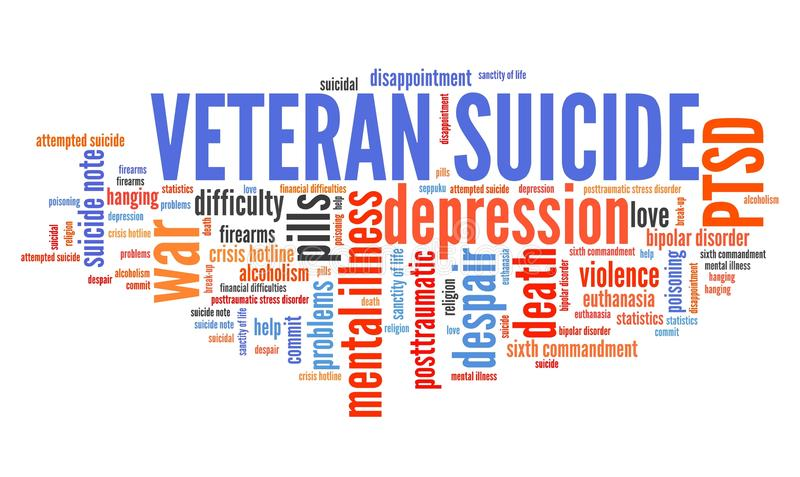 Suicides de vétéran illustration de vecteur