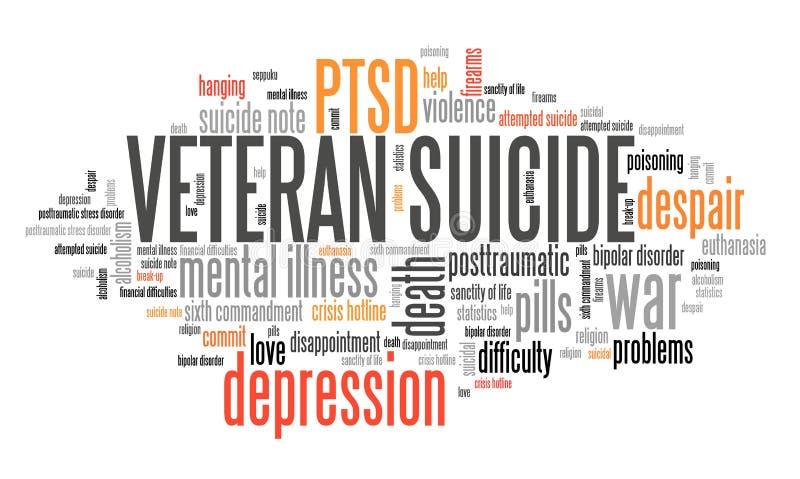 Suicides PTSD de vétéran illustration libre de droits