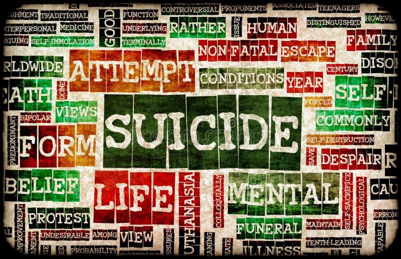 Suicidio ilustración del vector