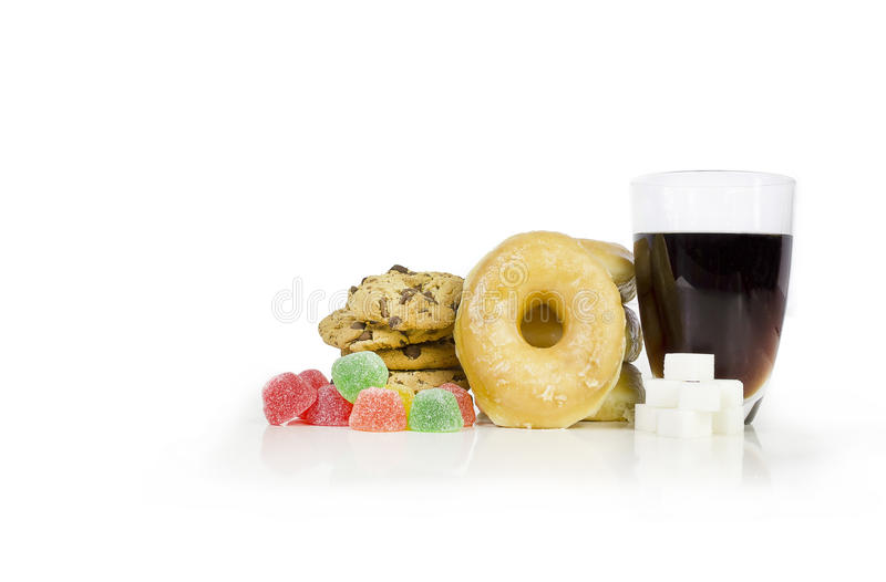 Suiker geladen voedsel royalty-vrije stock foto