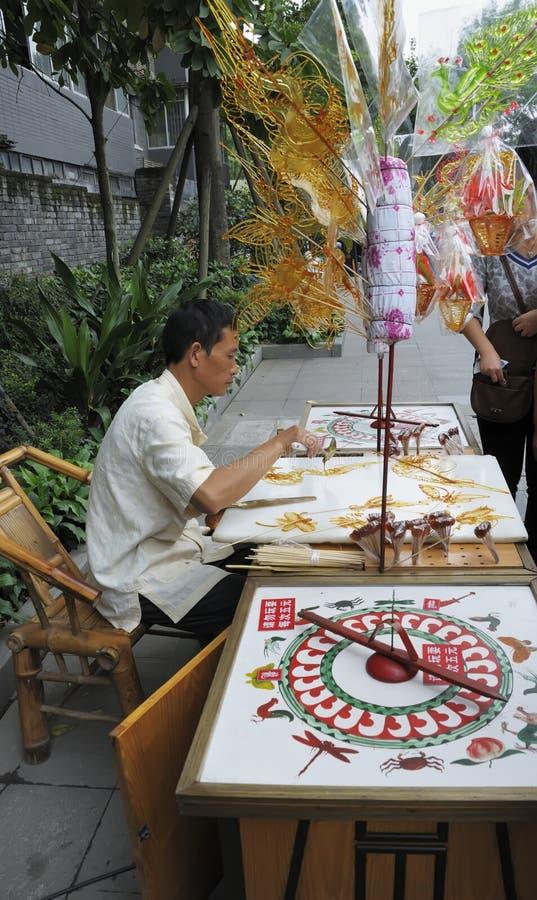 Suiker schilderende kunstenaars stock fotografie