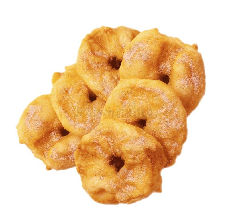 Suiker verglaasde doughnuts royalty-vrije stock afbeeldingen