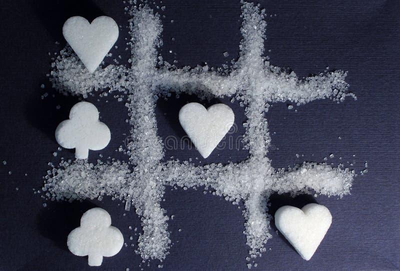 Suiker - zoet spel voor twee stock foto's