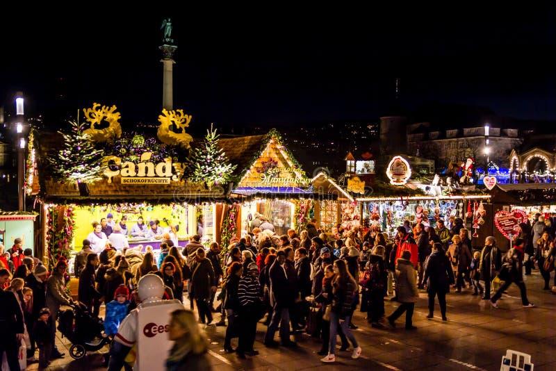 Suikergoed bij de Kerstmismarkt royalty-vrije stock afbeeldingen