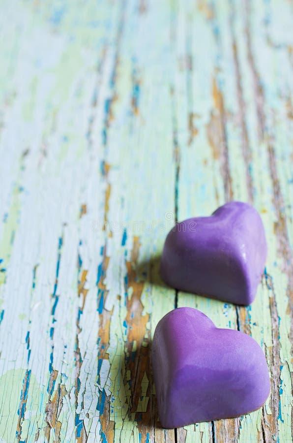 Suikergoed in de vorm van een hart royalty-vrije stock afbeeldingen